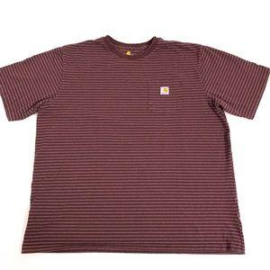Carhartt Stripe T-shirt Tee Top Mens Size 2XL